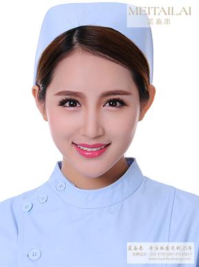 蓝色简约护士帽