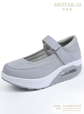灰色舒适护士鞋