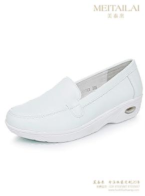 白色厚底单鞋护士鞋