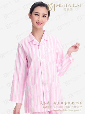 粉色春秋季病员服