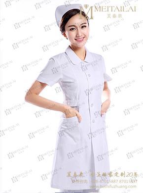 短袖白色护士服