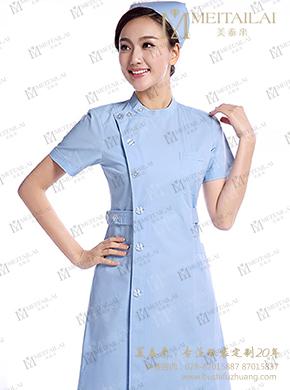 拼色短袖护士服