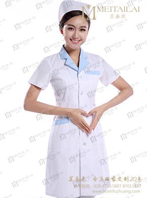 短袖翻领护士服